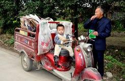 Pengzhou, China: Toddler and Grandfather Stock Photos