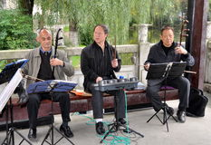 Pengzhou, China: Trio of Musicians Royalty Free Stock Images