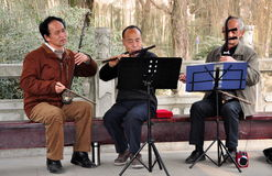 Pengzhou, China: Trio of Musicians Royalty Free Stock Image