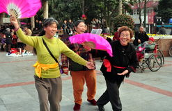 Pengzhou, China: Trio of Singing Women Royalty Free Stock Images