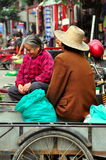 Pengzhou, China: Two Chinese Farmer Women Stock Photo