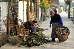 Pengzhou, China: Two Elderly Women Royalty Free Stock Photography
