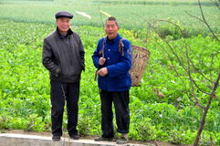 Pengzhou, China: Two Farmers Chatting Stock Photos