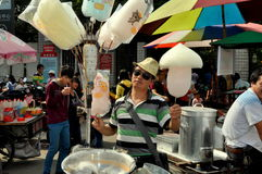 Pengzhou, China: Vendor Selling Cotton Candy Royalty Free Stock Photo
