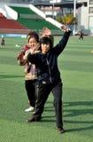 Pengzhou, China: Woman Doing Tai 'Chi Stock Photo