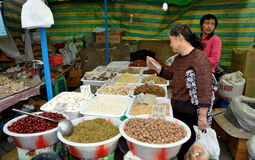 Pengzhou, China: Woman Shopping for Food Royalty Free Stock Image
