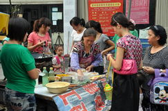 Pengzhou, China: Women Buying Food Royalty Free Stock Photos