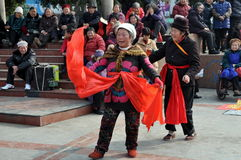 Pengzhou, China: Women Dancing Royalty Free Stock Photos