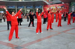 Pengzhou, China: Women Doing Tai ' Chi Stock Image