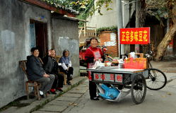 Pengzhou, China: Women on Hua Lu Royalty Free Stock Photography