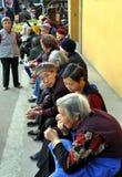 Pengzhou, China: Women at the Long Xing Temple Royalty Free Stock Photography