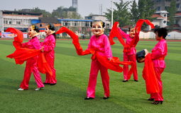 Pengzhou, China: Women Performing Dance Routine Stock Photography
