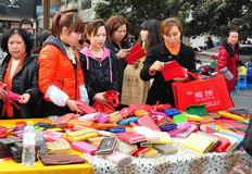Pengzhou, China: Women Shopping for Bargains Stock Photo