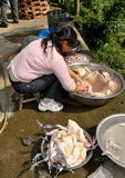 Pengzhou, China: Women Washing Ducks Royalty Free Stock Photos