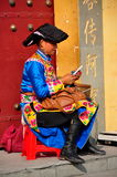 Pengzhou, China: Women Wearing Qiang Clothing Royalty Free Stock Image