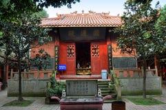 Pengzhou, Chine : Cour de temple de yuan de dong Photos stock