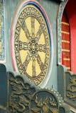 Pengzhou, Chine : Roue de Falun à la longue pagoda de Xing Image stock
