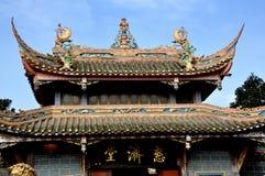 Pengzhou, Chine : Temple bouddhiste de ci Ji Photos libres de droits