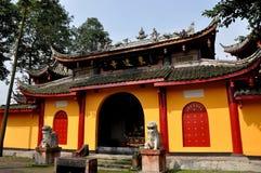 Pengzhou, Chine : Temple bouddhiste du yuan SI de dong Photos libres de droits