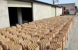 Pengzhou, Cina: Fabbrica dei fuochi d'artificio Fotografia Stock