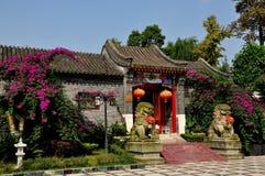 Pengzhou Kina: Hus för traditionell kines Arkivbild