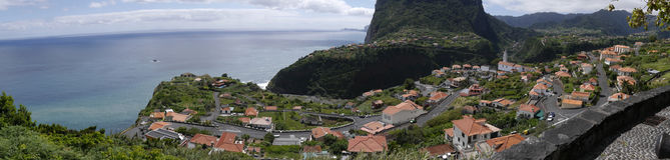  Penha de à guia oder Adlerfelsen, Madeira, Portugal Lizenzfreie Stockfotos