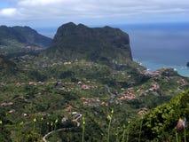  Penha de à guia oder Adlerfelsen, Madeira, Portugal Stockbild