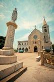 Penha kyrka i Macao Arkivbilder