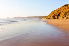 Penhale Sands. The beautiful Penhale Sands beach near Perranporth Cornwall England UK Stock Images