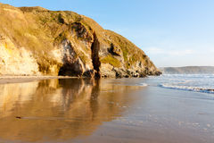 Penhale Sands. The beautiful Penhale Sands beach near Perranporth Cornwall England UK Stock Photos