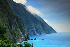 Penhasco bonito em Hualien, Taiwan Foto de Stock