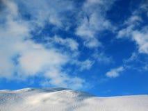 Penhasco da neve fotos de stock