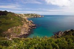 Penhasco de Guernsey Fotografia de Stock