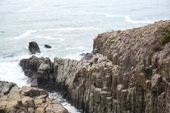 Penhasco de Tojinbo, rochas de Byobu Foto de Stock Royalty Free