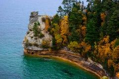 Penhasco do castelo dos mineiros em rochas representadas Fotografia de Stock