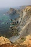 Penhasco e oceano Foto de Stock