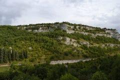Penhasco em Rocamadour, França imagem de stock