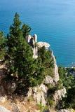Penhasco grande sobre o Mar Negro Imagem de Stock Royalty Free