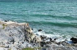 Penhasco na praia Fotos de Stock Royalty Free