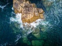 Penhasco no Rias Baixas, Galiza Imagens de Stock Royalty Free