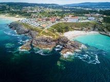 Penhasco no Rias Baixas, Galiza Fotos de Stock Royalty Free
