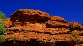Penhasco vermelho da rocha Fotografia de Stock