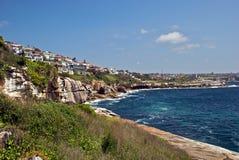 Penhascos ao longo da costa leste de Austrália Foto de Stock Royalty Free
