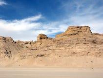 Penhascos ao longo da linha costeira de mar de Cortez perto do EL Golfo de Santa Clara, Sonora, México fotografia de stock