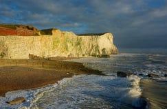 Penhascos brancos da cabeça de Seaford, Sussex foto de stock royalty free