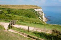 Penhascos brancos de Dover England foto de stock