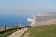Penhascos brancos em Inglaterra Fotos de Stock Royalty Free