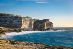 Penhascos da ilha de Gozo, Malta Imagem de Stock Royalty Free