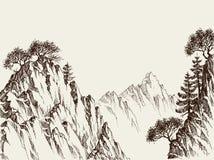 Penhascos da montanha ilustração royalty free