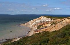 Penhascos da praia de Moshup fotografia de stock royalty free